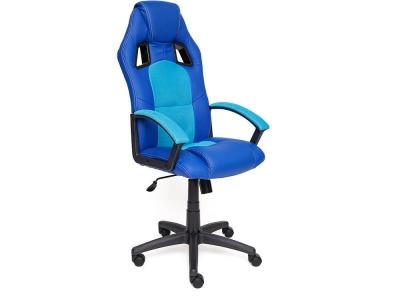 Кресло Driver кож.зам + ткань Синий + Голубой (36-39/23)