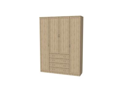 Шкаф для белья с полками и ящиками артикул 110 дуб сонома