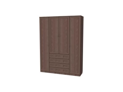 Шкаф для белья с полками и ящиками артикул 110 ясень шимо
