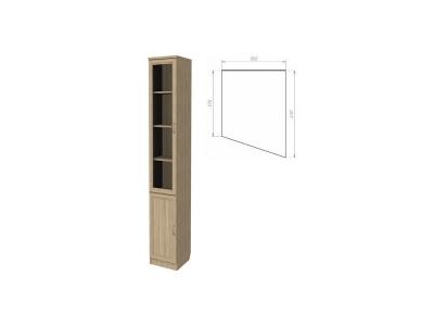 Шкаф для книг консоль правая артикул 202 дуб сонома