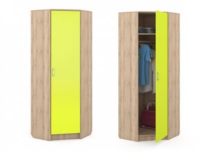 Шкаф угловой Ника 404 702х702-386х1973 Лайм Зеленый
