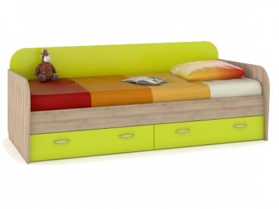 Кровать с ящиками Ника 424 Лайм Зеленый