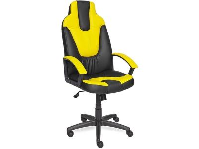 Кресло Neo-2 кож.зам Чёрный + Жёлтый (36-6/36-14)