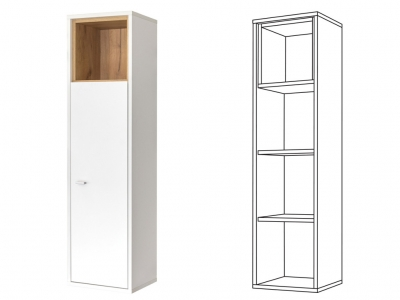 Шкаф навесной Бэль 10.69 (10.63)