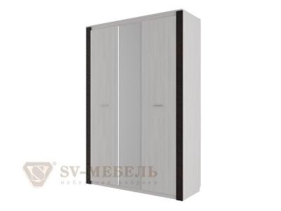 Шкаф комбинированный трехстворчатый Гамма 20 Ясень анкор светлый/Венге