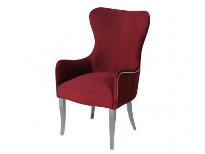 Кресло Лари бордо опоры белые