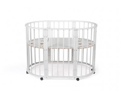 Кроватка для новорожденных трансформер Sleepy 8 в 1 Белая