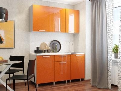 Кухонный гарнитур блестки Оранж 1500