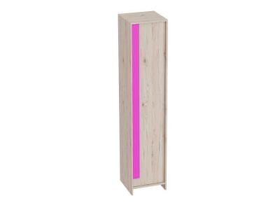 Шкаф 1-дверный Скаут 418х420х1990 Матовый фуксия