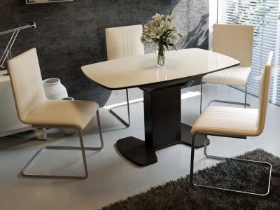 Стол обеденный Портофино СМ(ТД)-105.02.11(1) Венге, стекло